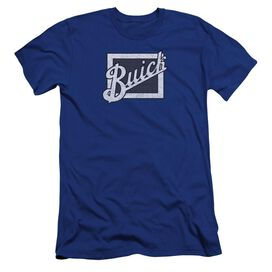 Buick Distressed Emblem Premuim Canvas Adult Slim Fit Royal