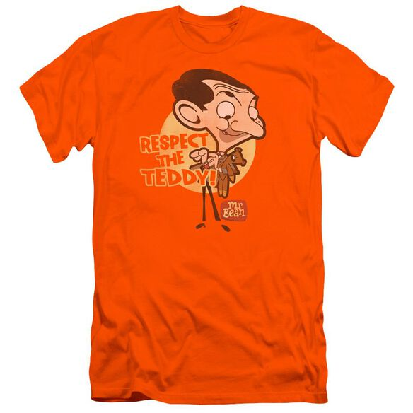 Mr Bean Respect The Teddy Premuim Canvas Adult Slim Fit