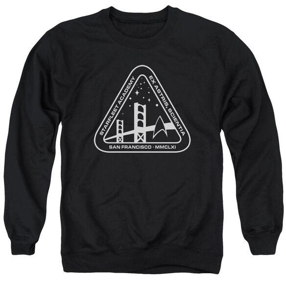 Star Trek White Academy Logo Adult Crewneck Sweatshirt