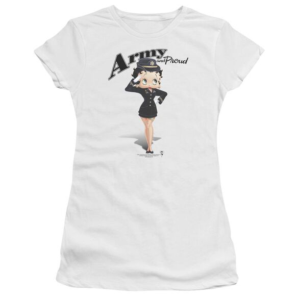 Betty Boop Army Boop Premium Bella Junior Sheer Jersey