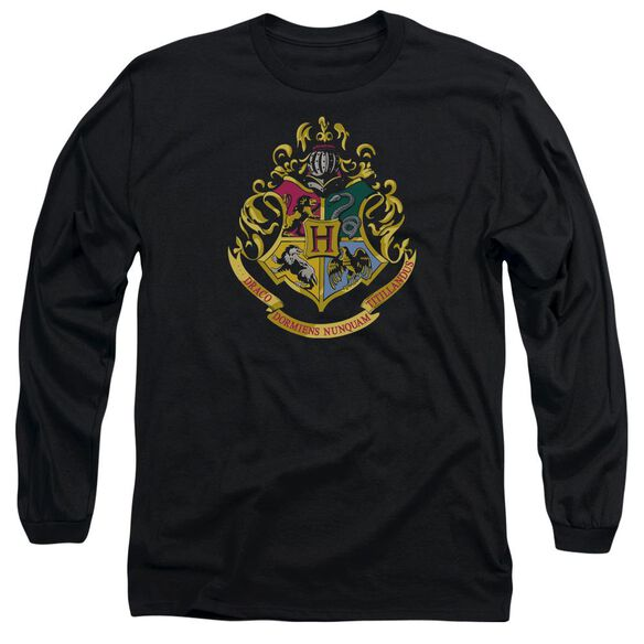 Harry Potter Hogwarts Crest Long Sleeve Adult T-Shirt
