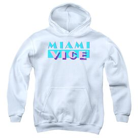 Miami Vice Logo Youth Pull Over Hoodie