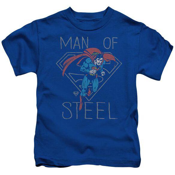 Dc Hardened Heart Short Sleeve Juvenile Royal T-Shirt