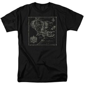 Lord Of The Rings Map Of Me Short Sleeve Adult Black T-Shirt