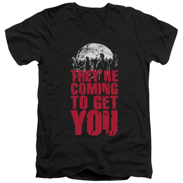 They're Coming To Get You Short Sleeve Adult V Neck T-Shirt