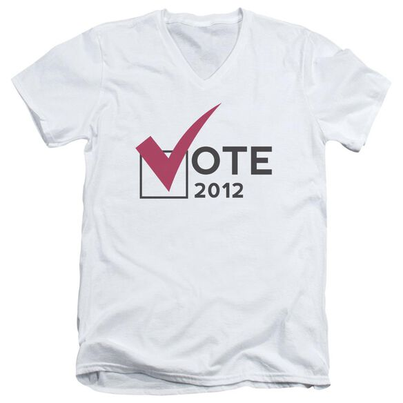 Vote 2012 Short Sleeve Adult V Neck T-Shirt