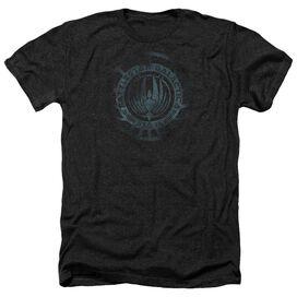 Battlestar Galactica (New) Faded Emblem Adult Heather