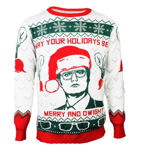 The Office - May Your Holidays Be Merry & Dwight Ugly Christmas Sweater