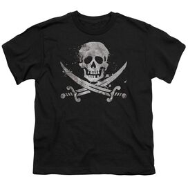 Distressed Jolly Roger Short Sleeve Youth T-Shirt