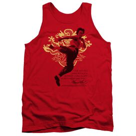 Bruce Lee Immortal Dragon - Adult Tank - Red