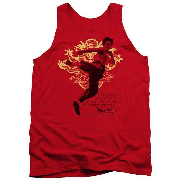 Bruce Lee Immortal Dragon - Adult Tank - Red