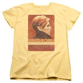 David Bowie Stage Tour Berlin 78 Short Sleeve Womens Tee T-Shirt
