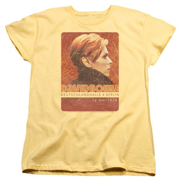 David Bowie Stage Tour Berlin 78 Short Sleeve Womens Tee T-Shirt