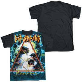 Def Leppard Hysteria Short Sleeve Adult Front Black Back T-Shirt