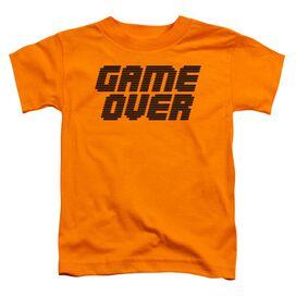Game Over Short Sleeve Toddler Tee Orange T-Shirt