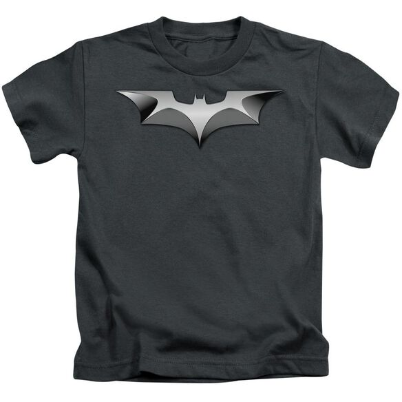 Dark Knight Metal Bat Logo Short Sleeve Juvenile T-Shirt