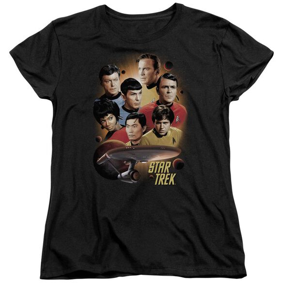 Star Trek Heart Of The Enterprise Short Sleeve Womens Tee T-Shirt