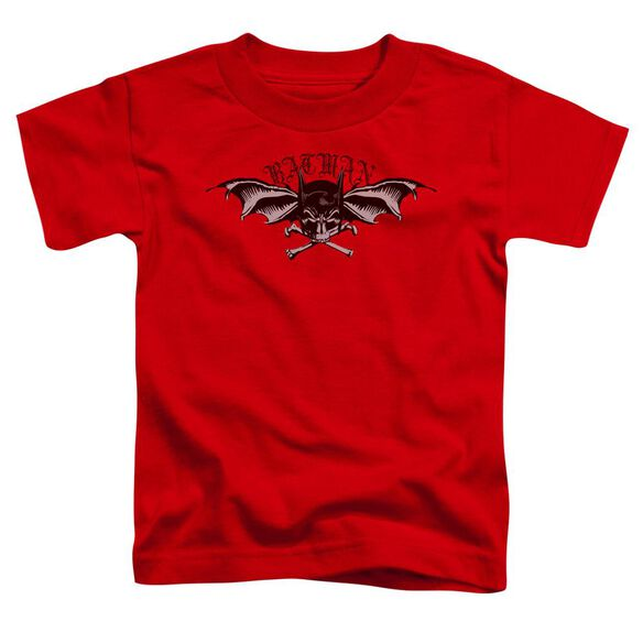 Batman Wings Of Wrath Short Sleeve Toddler Tee Red T-Shirt