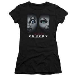 BRIDE OF CHUCKY HAPPY COUPLE - S/S JUNIOR SHEER - BLACK T-Shirt