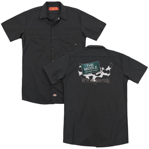 Middle We've All Been There (Back Print) Adult Work Shirt