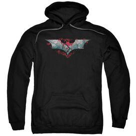 Dark Knight Rises Split &Amp; Crack Logo Adult Pull Over Hoodie