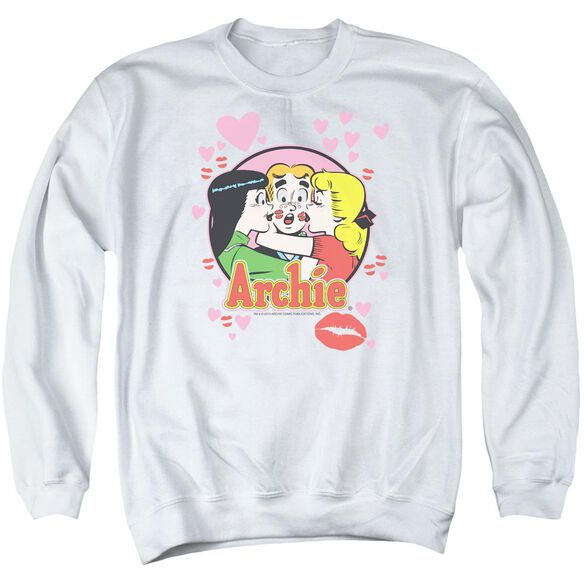 Archie Comics Kisses For Archie Adult Crewneck Sweatshirt