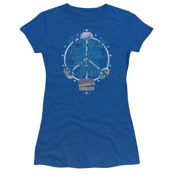 Smarties Peace Lollies Short Sleeve Junior Sheer Royal T-Shirt