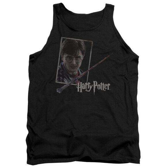Harry Potter Harrys Wand Portrait Adult Tank