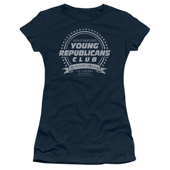 Family Ties Young Republicans Club Short Sleeve Junior Sheer T-Shirt