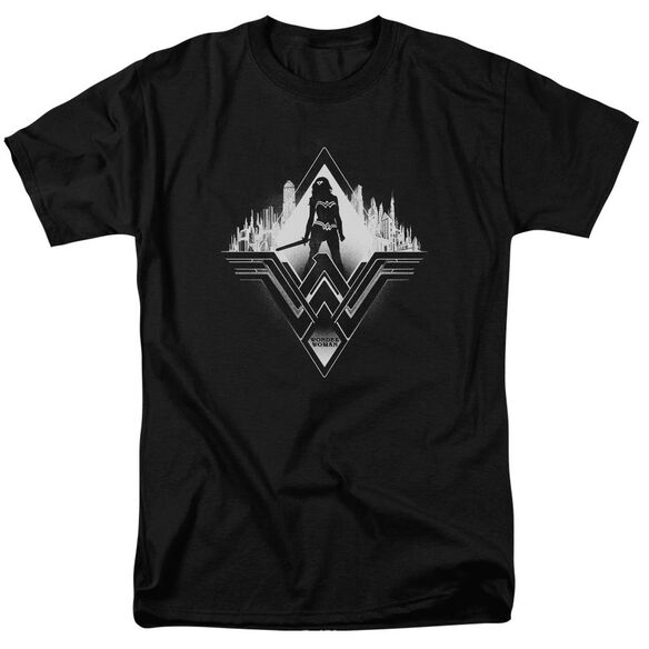 Batman V Superman City Warrior Short Sleeve Adult Black T-Shirt