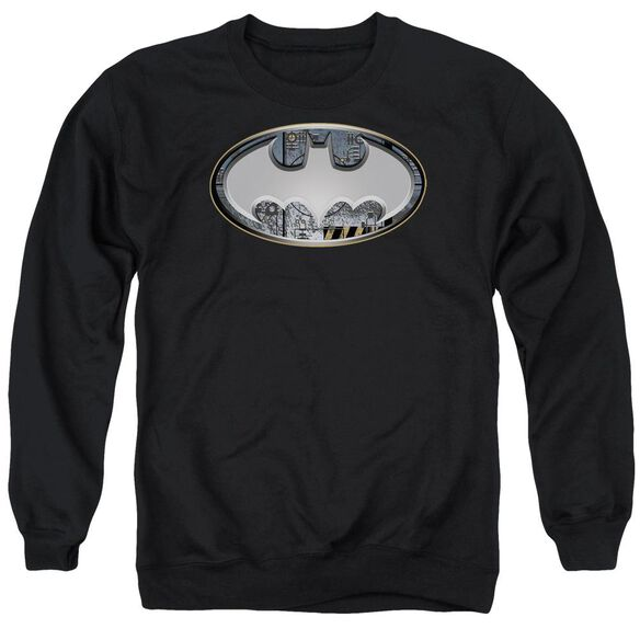 Batman Steel Wall Shield Adult Crewneck Sweatshirt