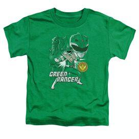 Power Rangers Green Ranger Short Sleeve Toddler Tee Kelly Green T-Shirt
