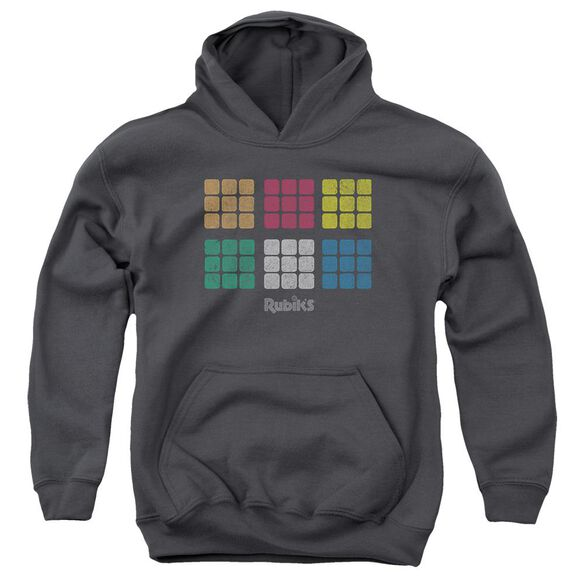 Rubik's Cube Minimal Squares Youth Pull Over Hoodie