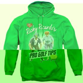 I LOVE LUCY PRO GOLF TIPS - ADULT PULL-OVER HOODIE - KELLY GREEN