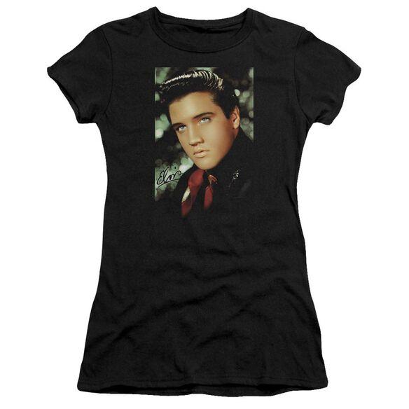 Elvis Red Scarf Short Sleeve Junior Sheer T-Shirt