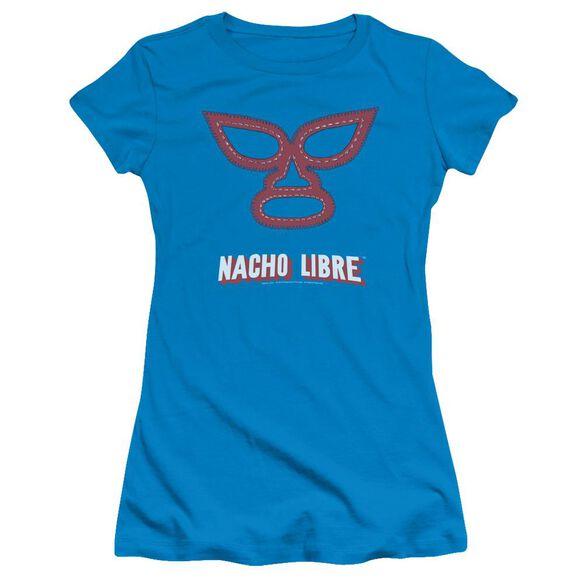 Nacho Libre Mask Short Sleeve Junior Sheer T-Shirt