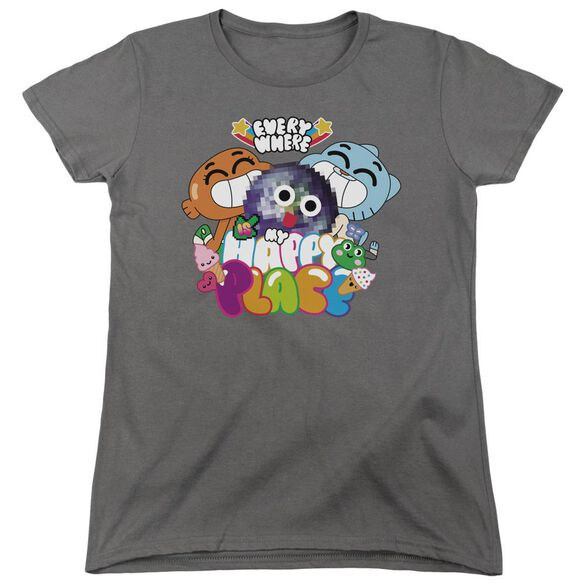 Amazing World Of Gumball Happy Place Short Sleeve Womens Tee T-Shirt