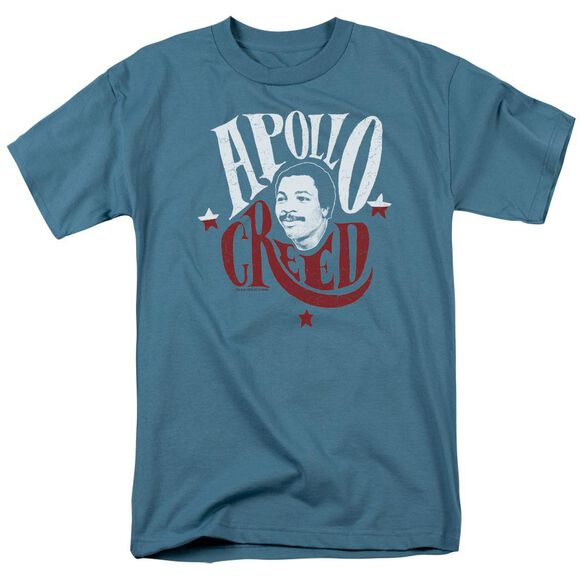 Rocky Apollo Sign Short Sleeve Adult Slate T-Shirt