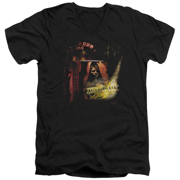 Mirrormask Big Top Poster Short Sleeve Adult V Neck T-Shirt