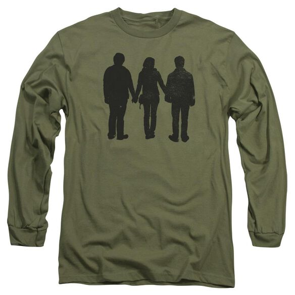 Harry Potter Three Stand Alone Long Sleeve Adult Military T-Shirt