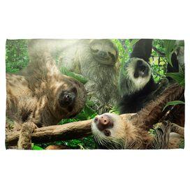 Sloth Club Bath Towel