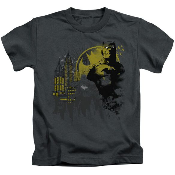 Batman The Dark City Short Sleeve Juvenile Charcoal T-Shirt