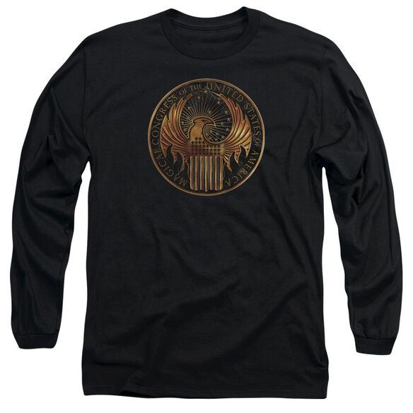 Fantastic Beasts Magical Congress Crest Long Sleeve Adult T-Shirt