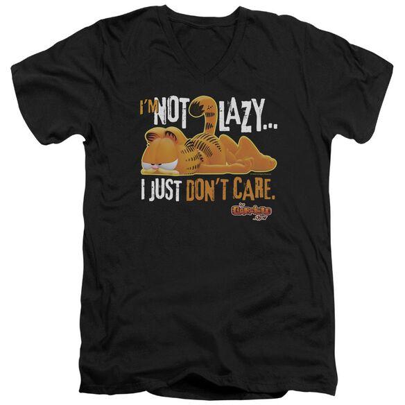Garfield Not Lazy Short Sleeve Adult V Neck T-Shirt