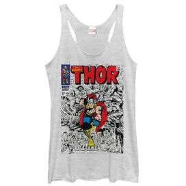 Thor Comic Might Tank Top Juniors T-Shirt