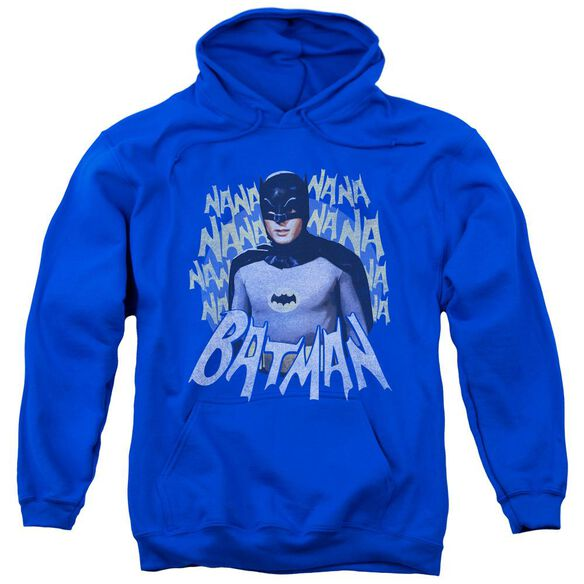 Batman Classic Tv Theme Song Adult Pull Over Hoodie Royal