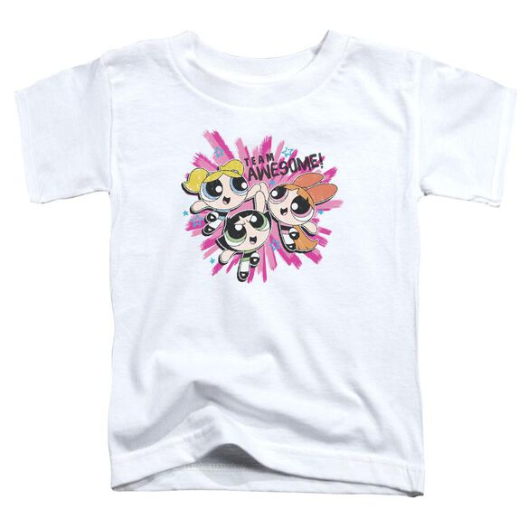 Powerpuff Girls Team Awesome Short Sleeve Toddler Tee White T-Shirt