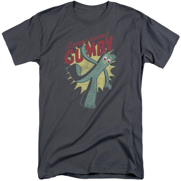 Gumby Bendable Short Sleeve Adult Tall T-Shirt
