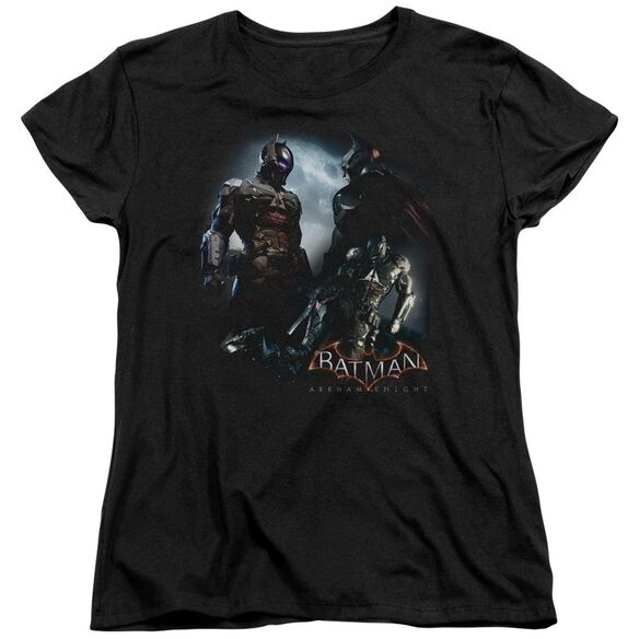Batman Arkham Knight Face Off Short Sleeve Womens Tee T-Shirt