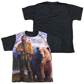 Grizzly Adams Man And Bear Short Sleeve Youth Front Black Back T-Shirt